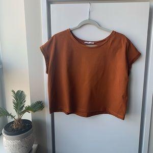 💫Zara Basic Loose Crop Top Shirt